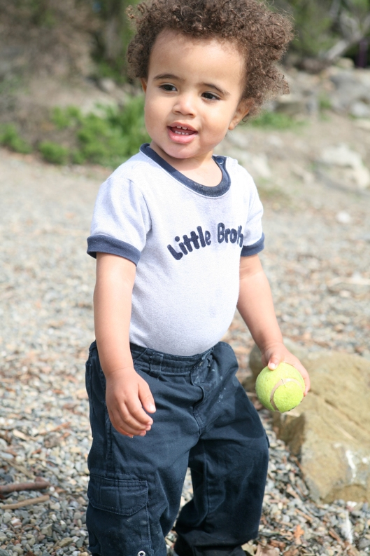Baby Boy in Little Brother T-shirt